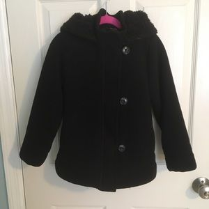Old Navy Black Sherpa Lined Coat for Girls
